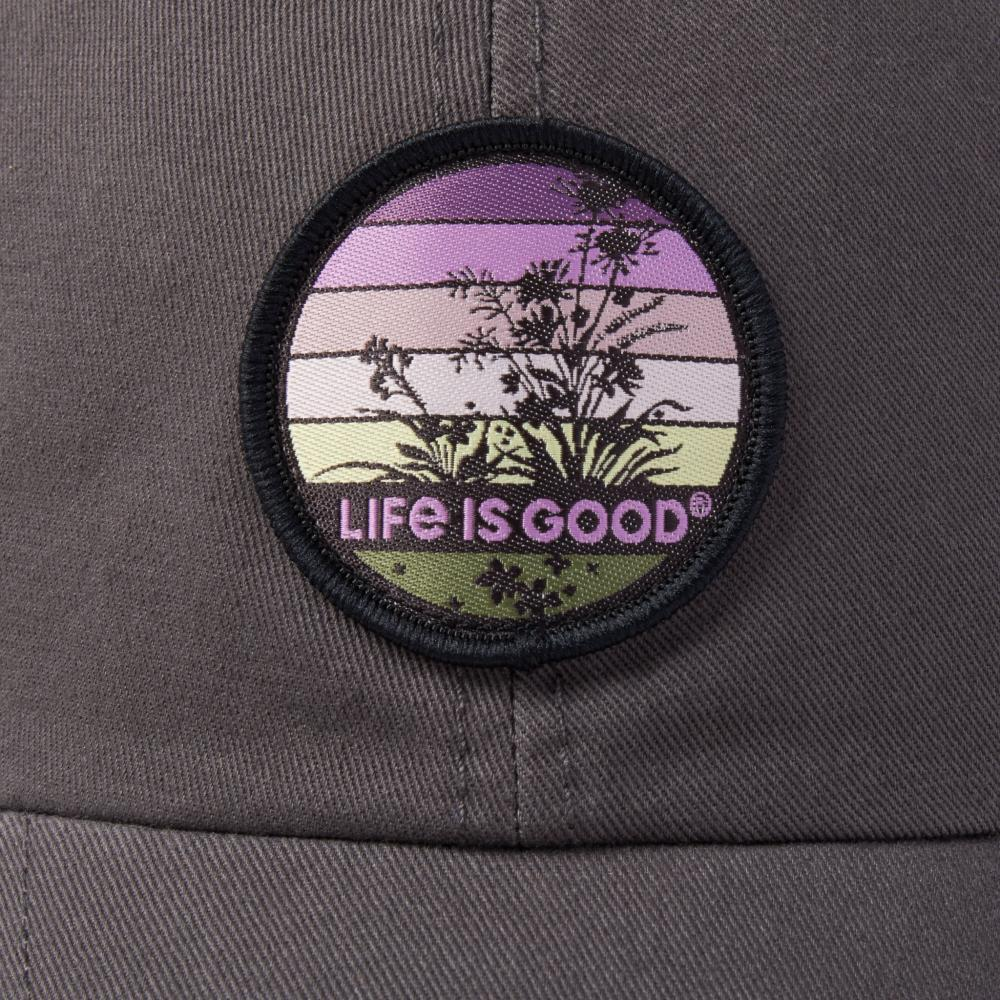 Life is Good Retro Wildflower Soft Mesh Back Cap SLATEGRAY