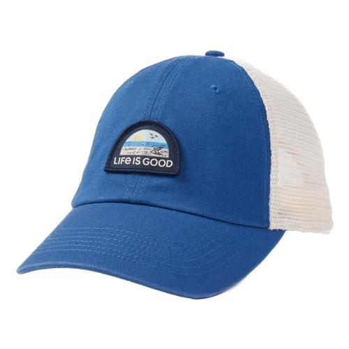 Life is Good Beach Landscape Soft Mesh Back Cap Vintagblue