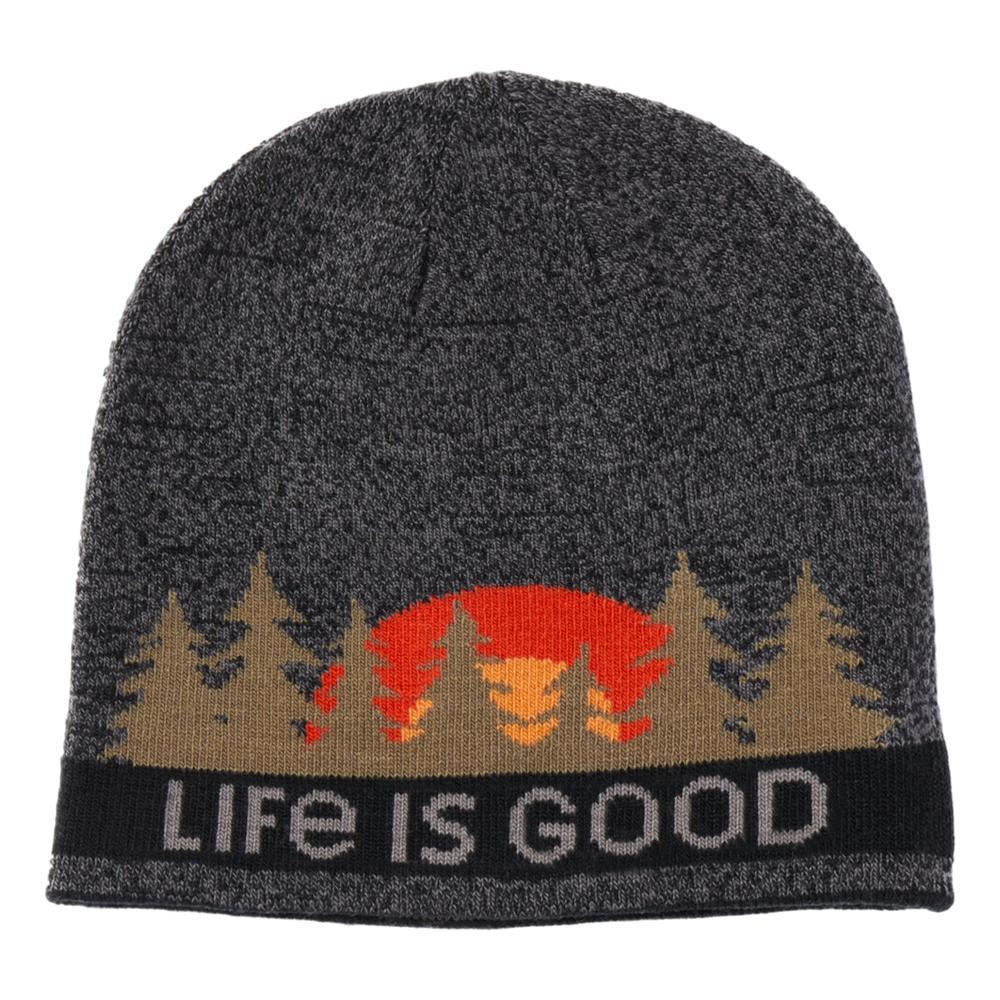 Life is Good Tree Stripes Reversible Beanie HEATHBLACK