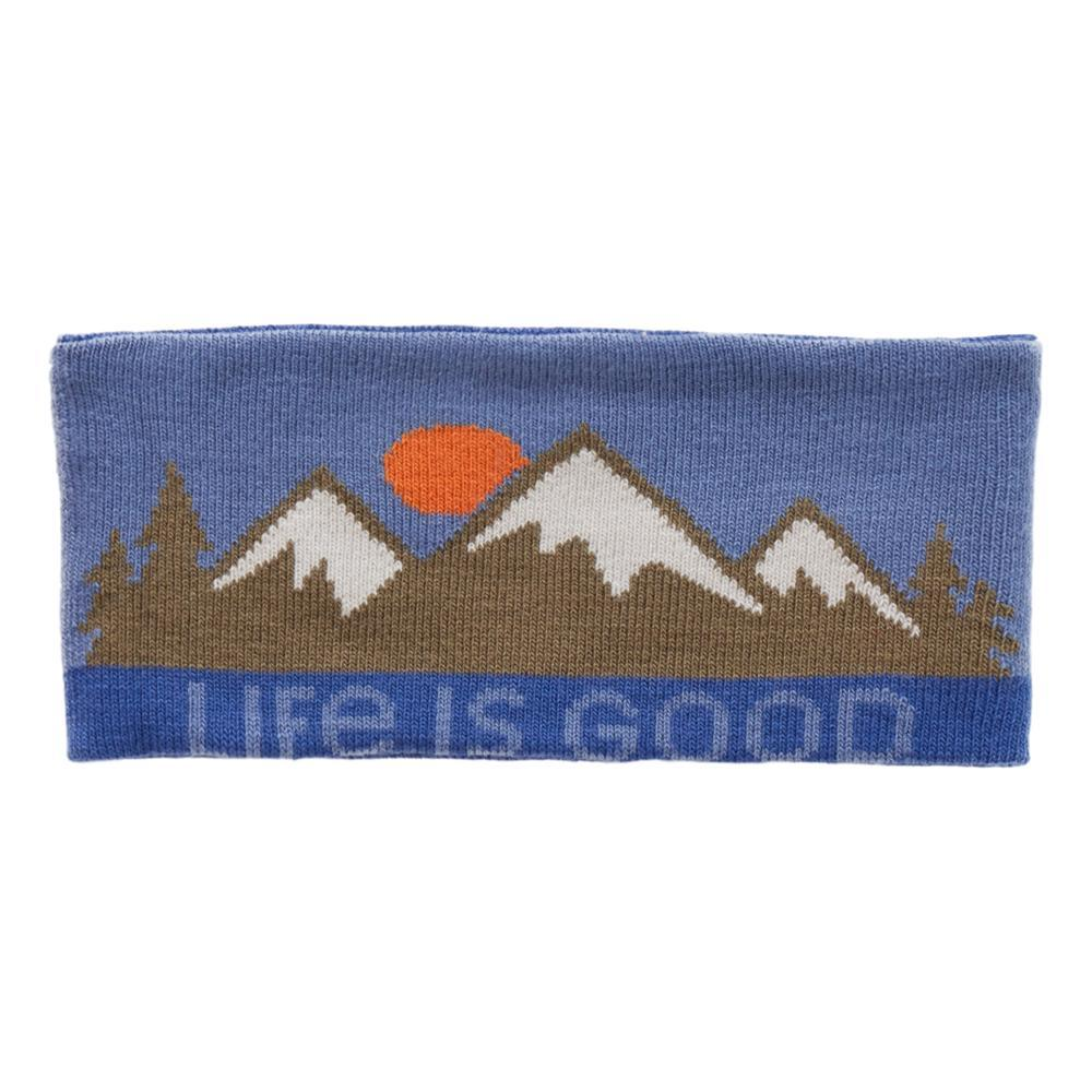 Life is Good Mountain Stripes Reversible Headband VINTAGBLUE