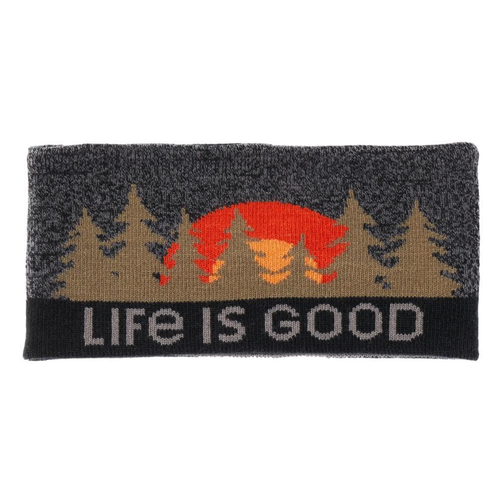Life is Good Tree Stripes Reversible Headband HEATHBLACK