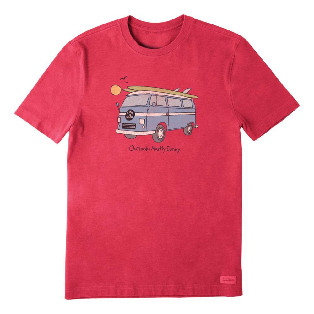 Life Is Good Men's Outlook Mostly Sunny Crusher Tee AMERICARED