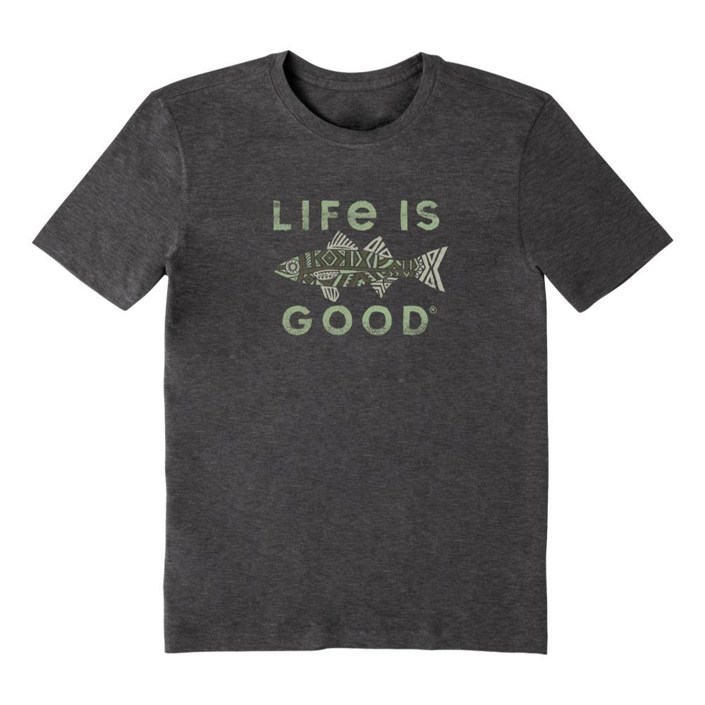 Life Is Good Men's Fish Pattern Cool Tee NIGHTBLACK