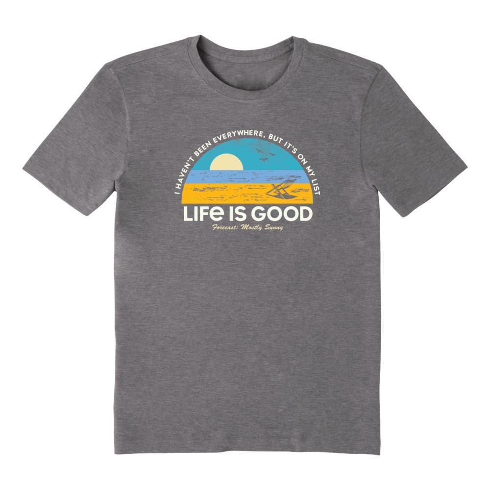 Life Is Good Men's Beach List Cool Tee SLATEGRAY