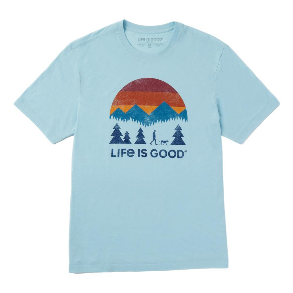 Life is Good Men's Friends Walking Cool Tee BEACHBLUE