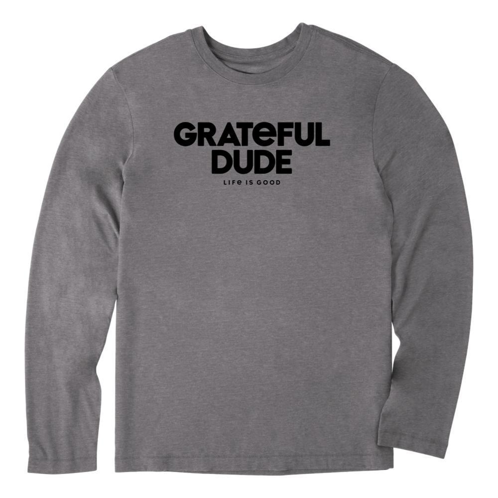 Life is Good Men's Grateful Dude Long Sleeve Cool Tee SLATEGRAY
