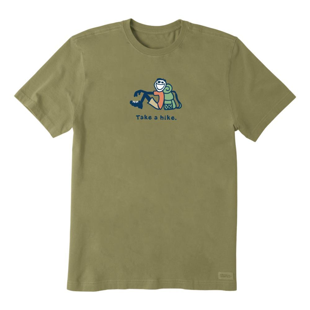 Life is Good Men's Take a Hike Jake Vintage Crusher Tee FATIGGREEN