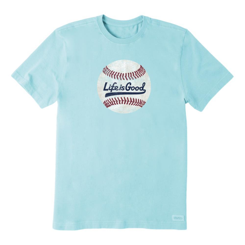 Life is Good Men's Ballyard Baseball Crusher Tee BEACHBLUE