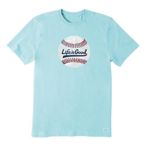 Life is Good Men's Ballyard Baseball Crusher Tee Beachblue