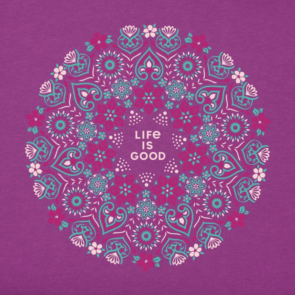 Life is Good Women's Wildflower Primal Mandala Crusher Tee HAPPYPLUM