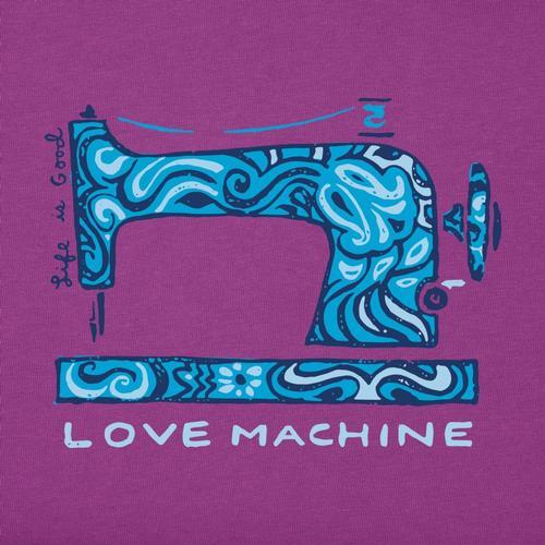 Life is Good Women's Love Machine Crusher Vee Shirt Happyplum