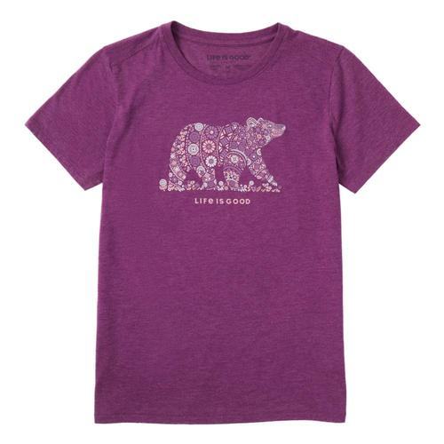 Life is Good Women's Unbearably Beautiful Cool Tee Happyplum