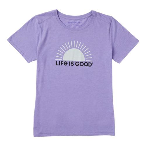 Life is Good Women's Simple Sun Cool Tee Moonpurple