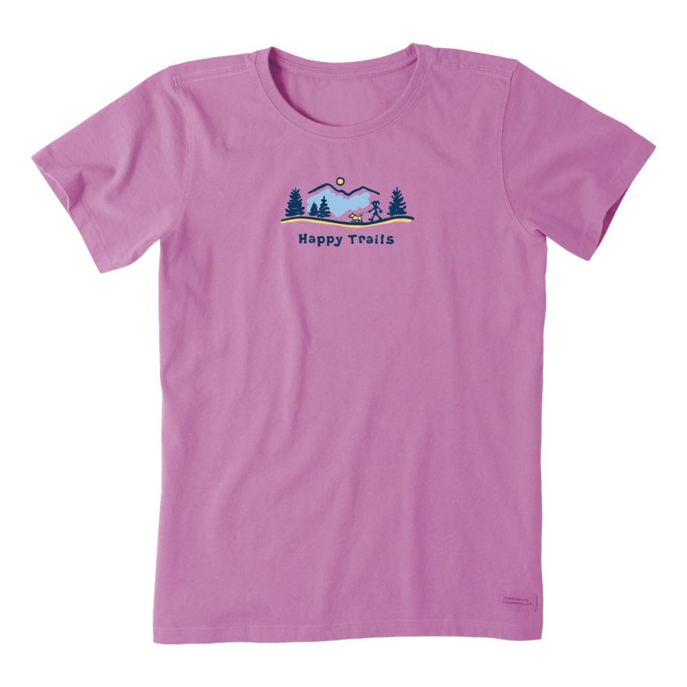 Life is Good Women's Happy Trails Vista Vintage Crusher Tee HAPPYGRAPE