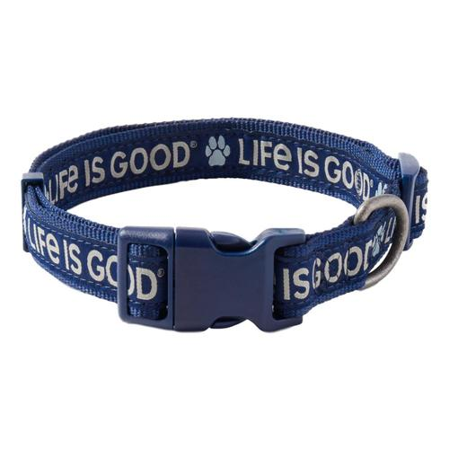 Life is Good Paw LIG Dog Collar Drkst.Blue