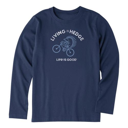 Life is Good Boys Living On The Hedge Long Sleeve Crusher Tee Drkblue