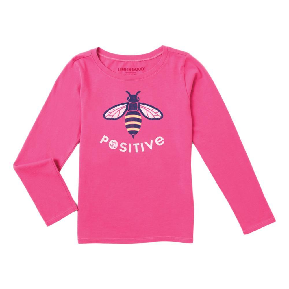 Life is Good Girls LIG Bee Long Sleeve Crusher Tee FIESTAPNK