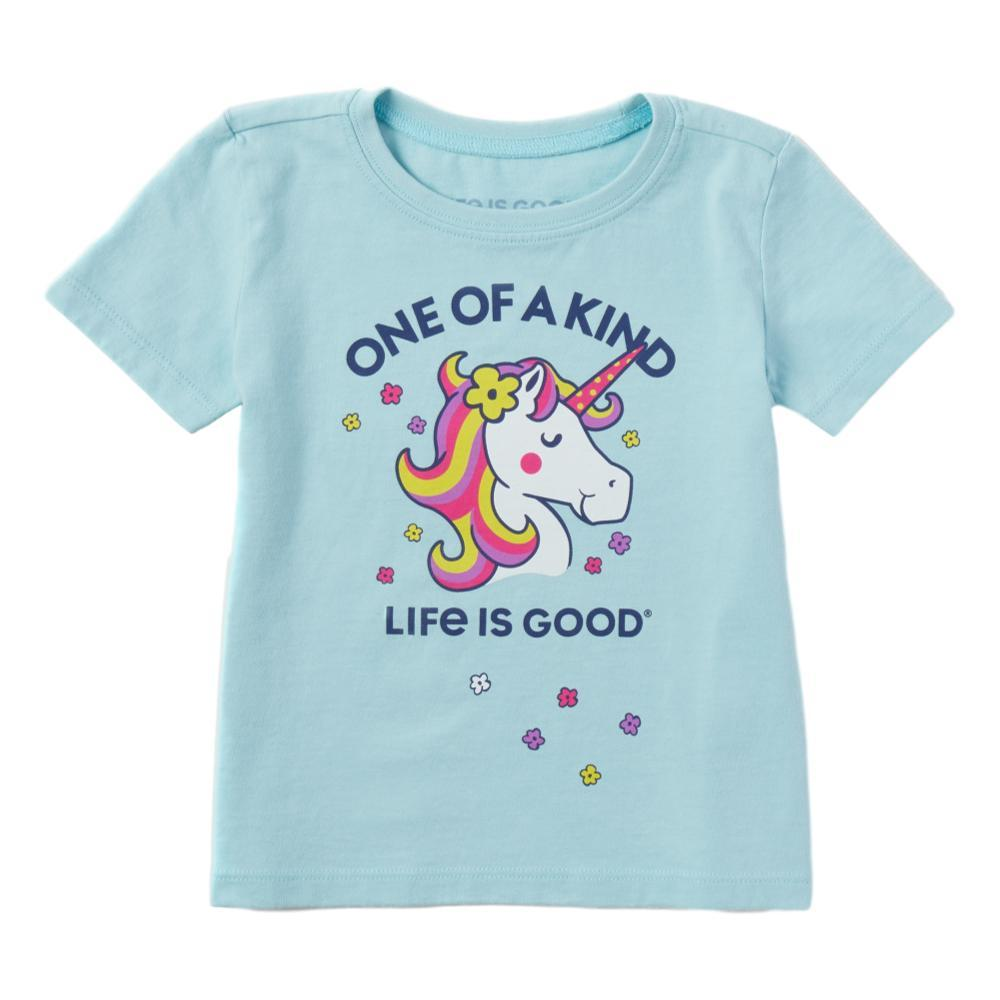 Life is Good Toddler One of a Kind Unicorn Crusher Tee BEACHBLUE