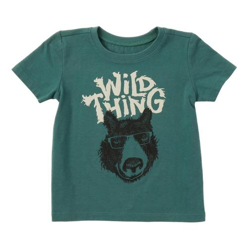 Life is Good Toddler Wild Thing Bear Crusher Tee Sprucgrn