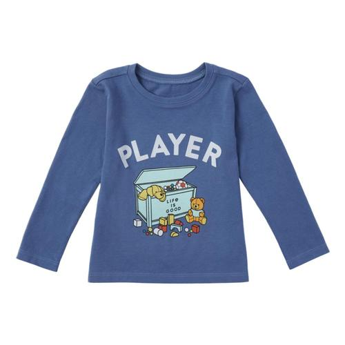 Life is Good Toddler LIG Player Long Sleeve Crusher Tee Vntgblue
