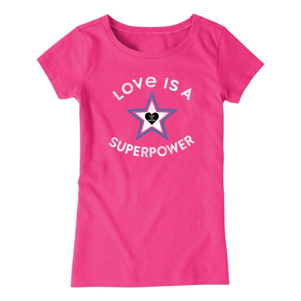 Life is Good Girls Superpower Star Crusher Tee FIESTAPNK