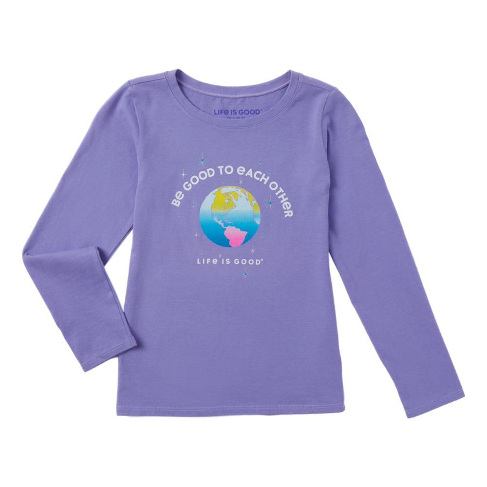 Life is Good Girls Be Good To Each Other Long Sleeve Crusher Tee MOONPURPLE
