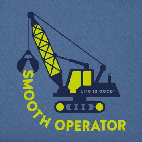 Life is Good Toddler LIG Smooth Operator Crusher Tee Vntgblue