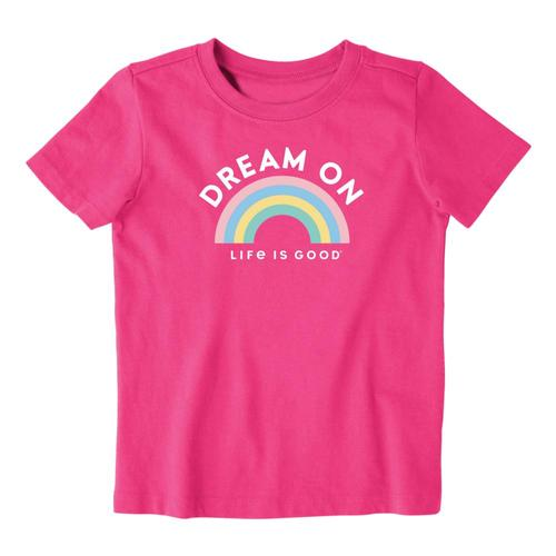 Life is Good Toddler Dream On Rainbow Crusher Tee Fiestapnk