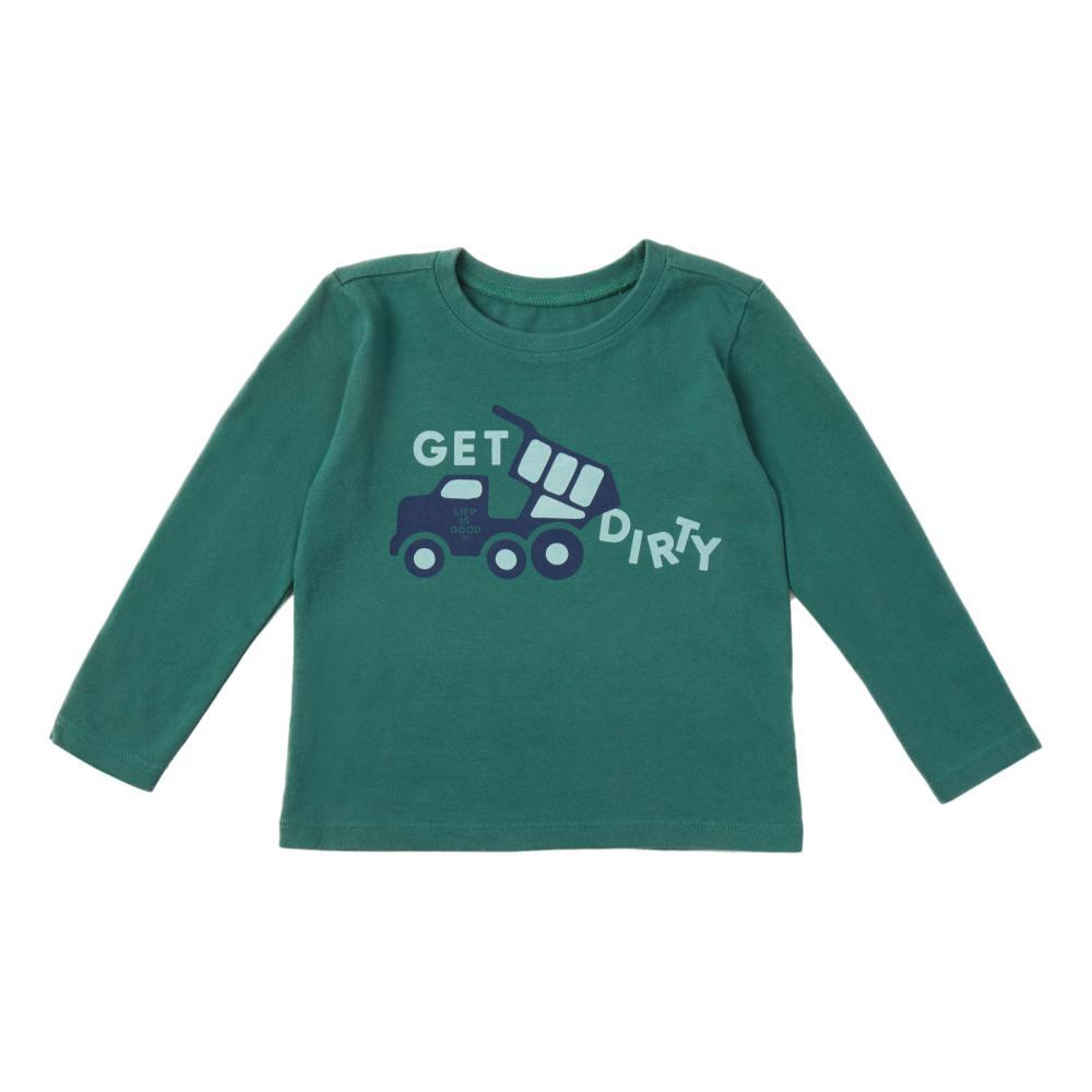 Life is Good Toddler Get Dirty Long Sleeve Crusher Tee SPRUCGRN