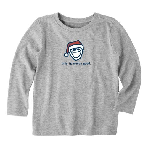 Life is Good Toddler Life is Merry Good Long Sleeve Vintage Crusher Tee Hthrgray