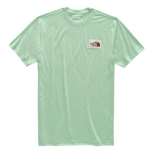 The North Face Men's Short Sleeve Heritage Tri-Blend Tee Siltgn_dw3