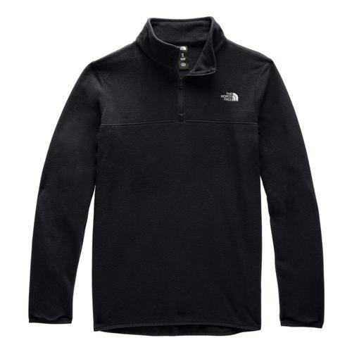 The North Face Women's TKA Glacier 1/4 Zip Pullover Black_kx7