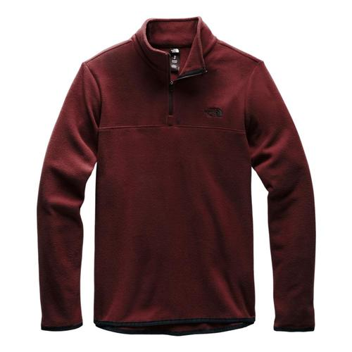 The North Face Women's TKA Glacier 1/4 Zip Pullover Garnet_ssj
