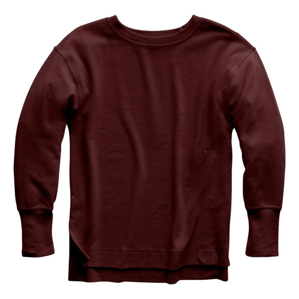 The North Face Women's Long-Sleeve Outerlands Waffle Top GARNET_HBM