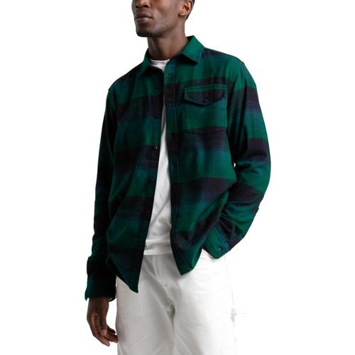 The North Face Men's Long-Sleeve Stayside Chamois Shirt Greenpld_gc5