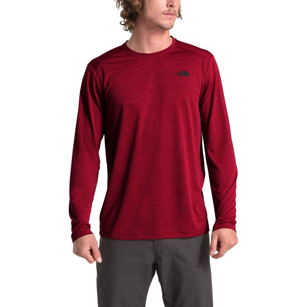 The North Face Men's HyperLayer FD Long Sleeve Crew CARDRED_HJK