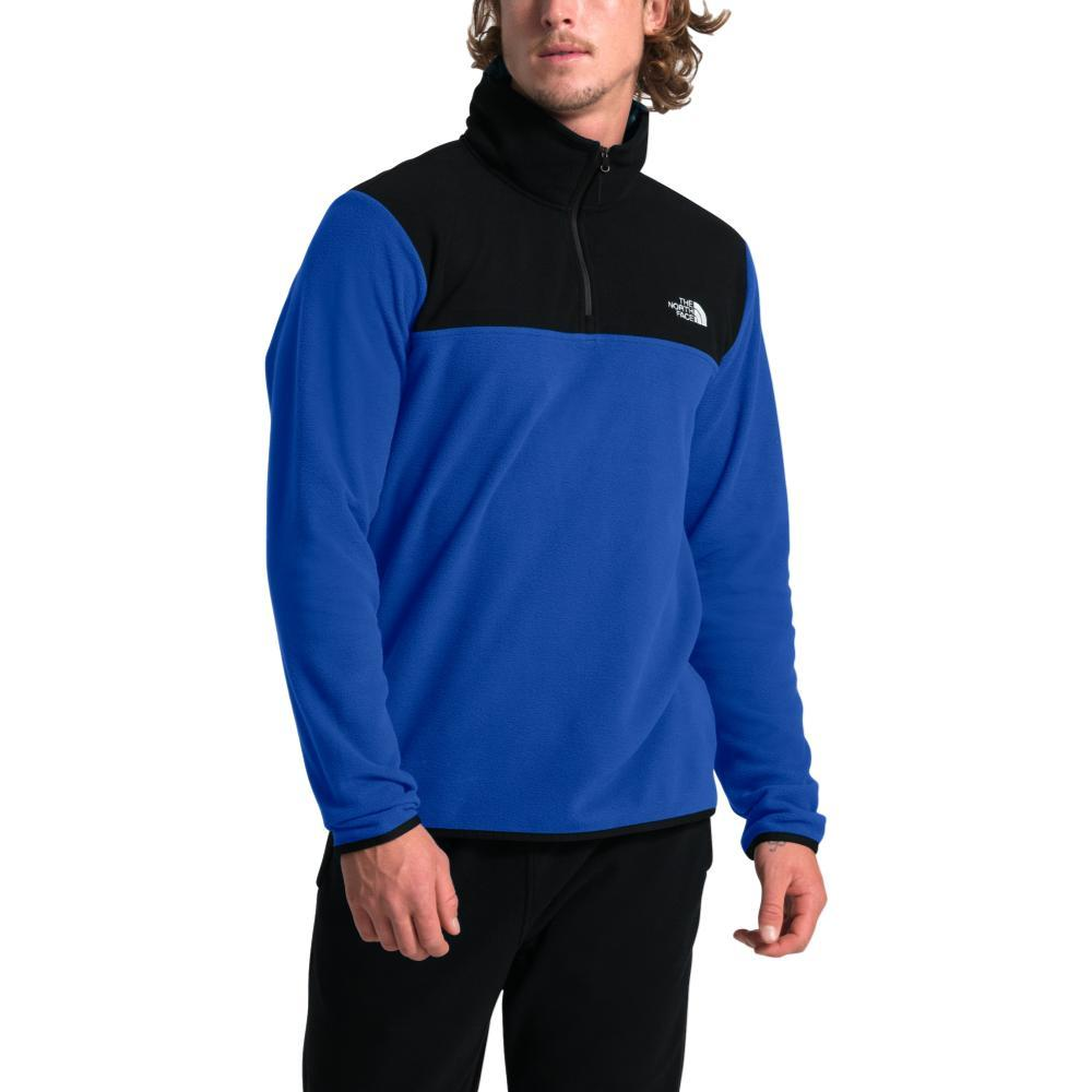 The North Face Men's Glacier TKA 1/4 Zip Pullover BLUE/BLK_EF1