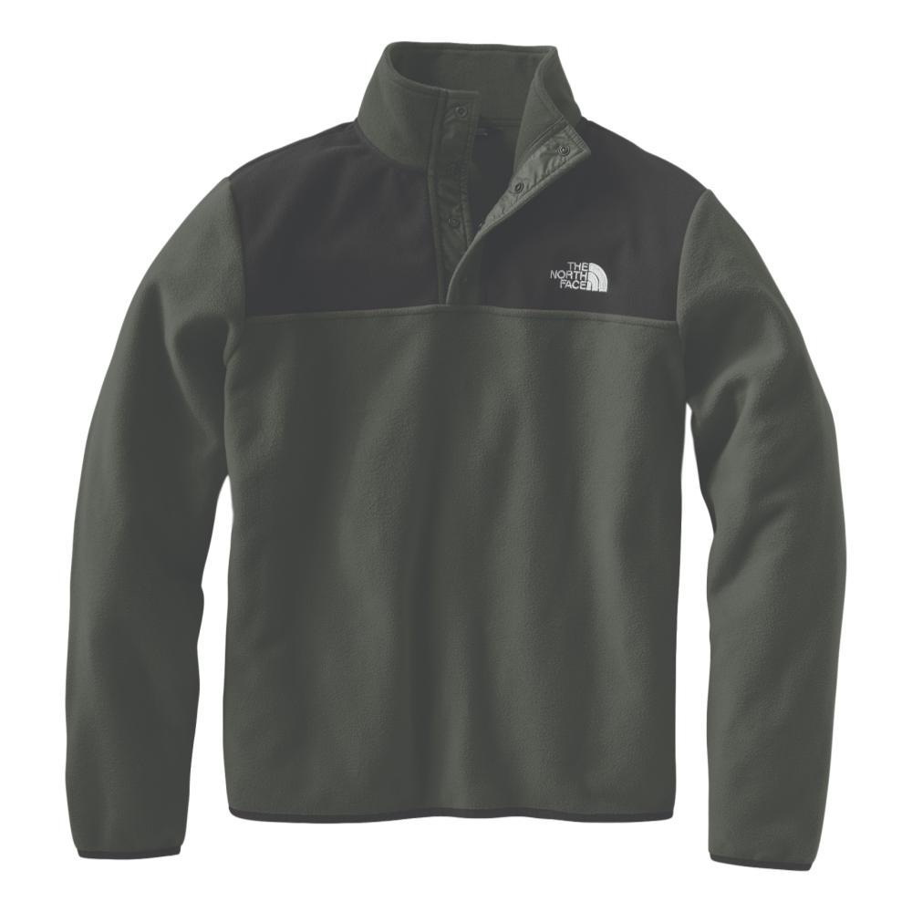The North Face Men's TKS Glacier Snap-Neck Pullover GRNBLK_BQW