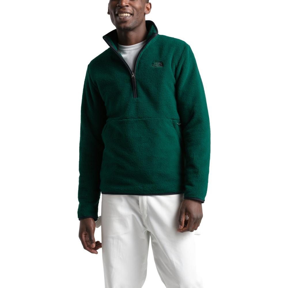 The North Face Men's Dunraven Sherpa 1/4 Zip Sweatshirt GRNBLK_BC8