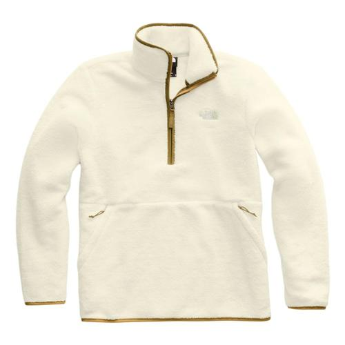 The North Face Men's Dunraven Sherpa 1/4 Zip Sweatshirt Whi/Khaki_g45