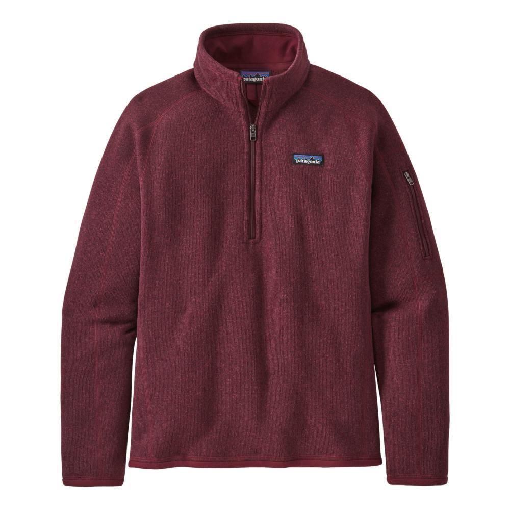 Patagonia Women's Better Sweater 1/4-Zip Fleece CHRED_CHIR