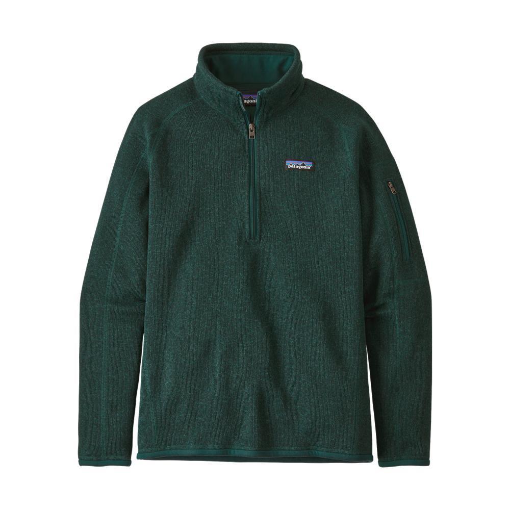 Patagonia Women's Better Sweater 1/4-Zip Fleece GREEN_PIGR