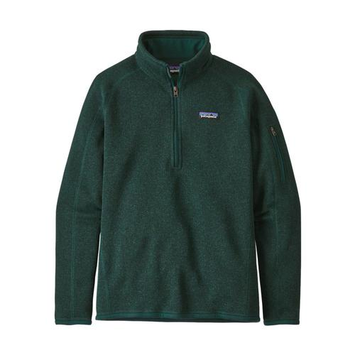 Patagonia Women's Better Sweater 1/4-Zip Fleece Green_pigr