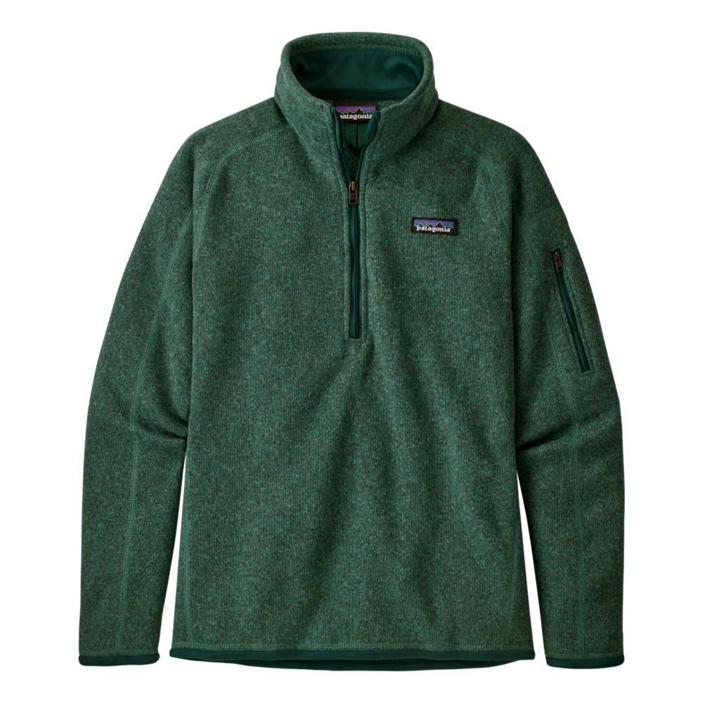 Patagonia Women's Better Sweater 1/4-Zip Fleece GREEN_REGG