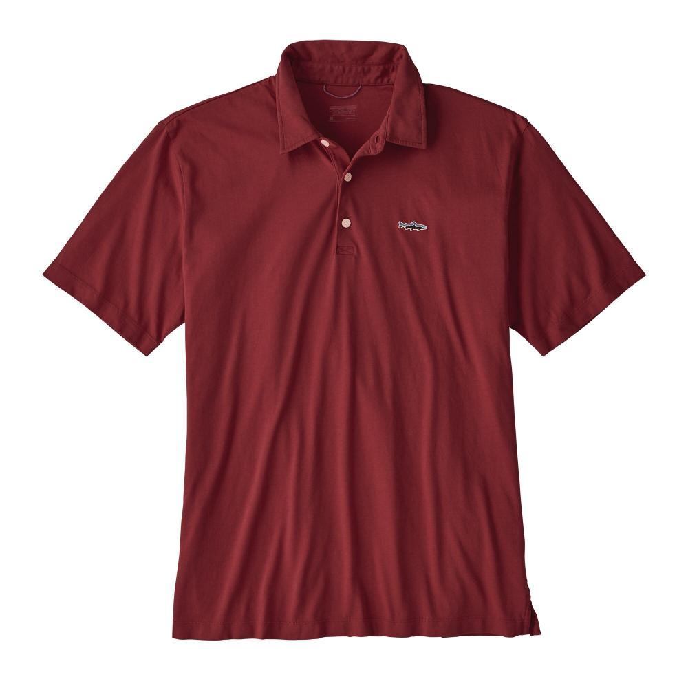 Patagonia Men's Polo - Trout Fitz Roy RED_OXDR