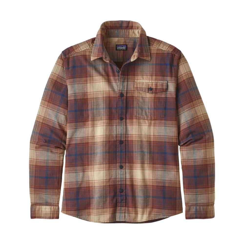 Patagonia Men's Long Sleeved Lightweight Fjord Flannel Shirt BRWN_CYSI