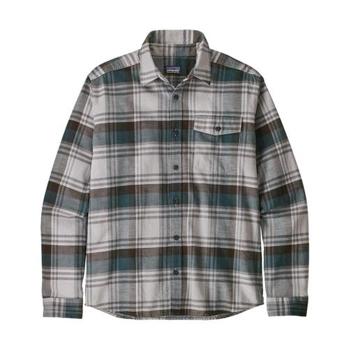 Patagonia Men's Long Sleeved Lightweight Fjord Flannel Shirt Grey_bstg