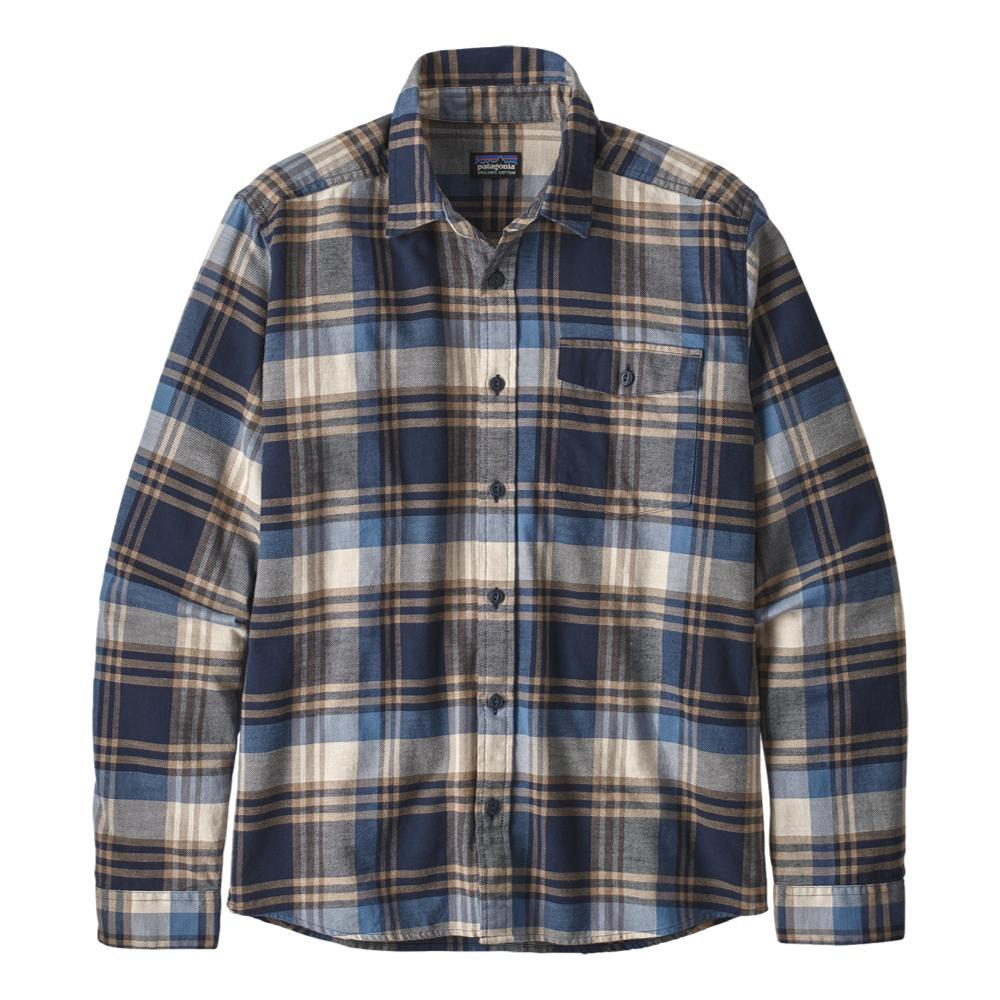 Patagonia Men's Long Sleeved Lightweight Fjord Flannel Shirt NAVY_BSNN