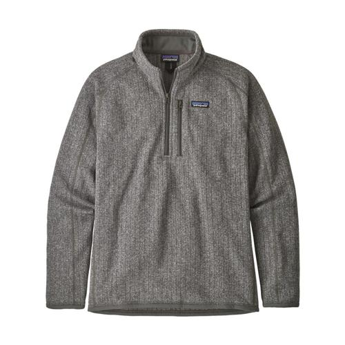 Patagonia Men's Better Sweater Rib Knit 1/4-Zip Fleece Stone_sthk