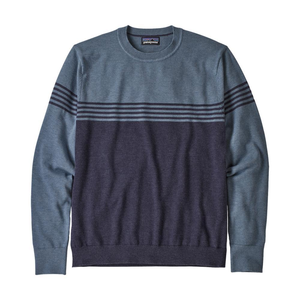 Patagonia Men's Long Sleeved Yewcrag Crew Sweater BLUE_CNWB